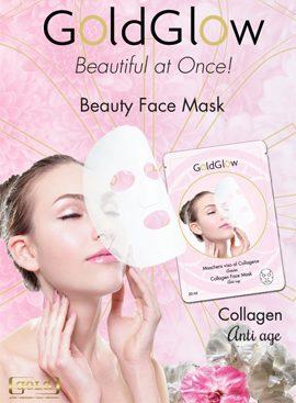 glodglow face mask collagen